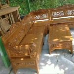 Kursi Tamu Sudut Bagong Kayu Jati Minimalis