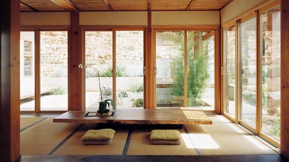 Ruang tamu lesehan minimalis