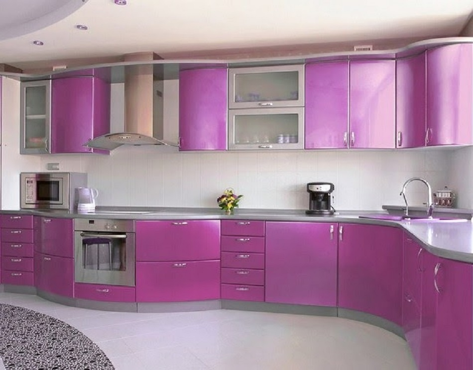 Kitchen Set Aluminium Ungu