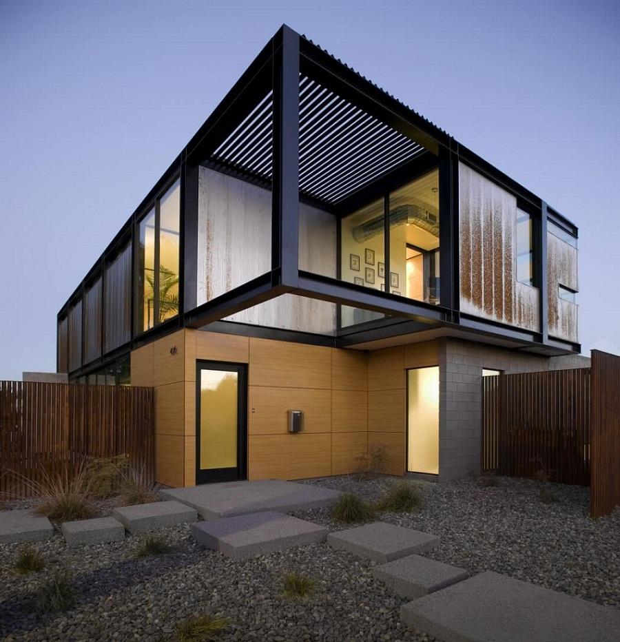 Rumah Minimalis 2 Lantai Gaya Industrial