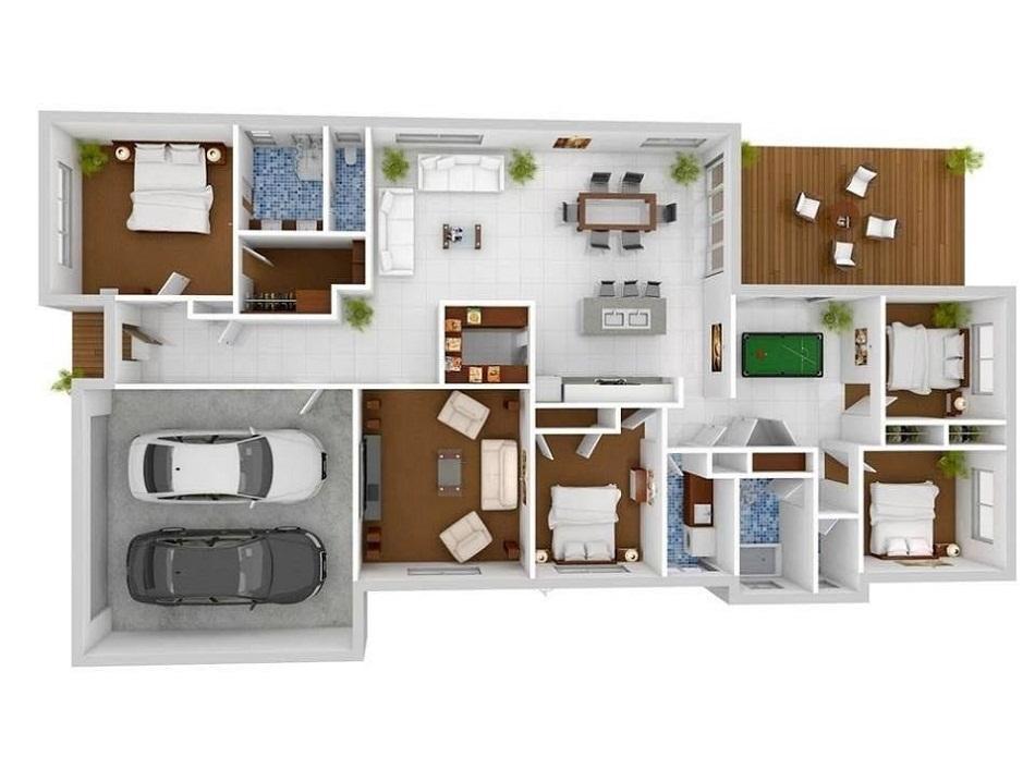 √ 30+ Desain & Denah Rumah Minimalis 1 Lantai Modern 2020