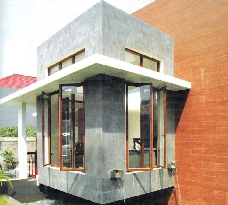 Kanopi Jendela Beton Model Datar